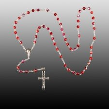 Red Crystal Cremation Rosary