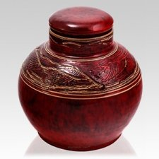 Red Dragon Ceramic Urn