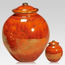 Red Dream Ceramic Cremation Urns