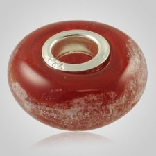 Red Elegance Cremation Ash Bead