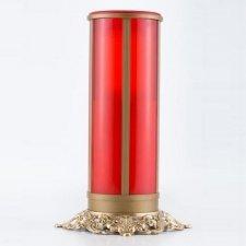 Red Filigree Memorial Candle