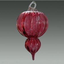 Red Glass Cremation Bauble