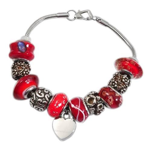 Red Heart Cremation Bracelet