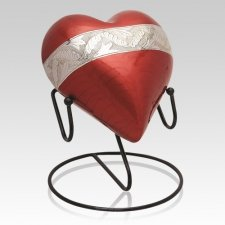 Red Heart Cremation Urns