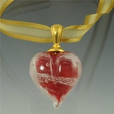 Red Love Cremation Ash Pendant