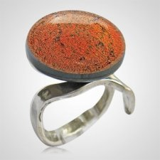 Red Memorial Ashes Ring