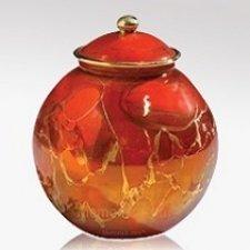 Red Orb Ceramic Keepsake Urn