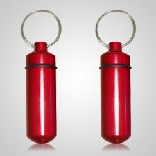 Red Pet Keepsake Keychains