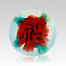 Red Rose Ash Glass Heirloom