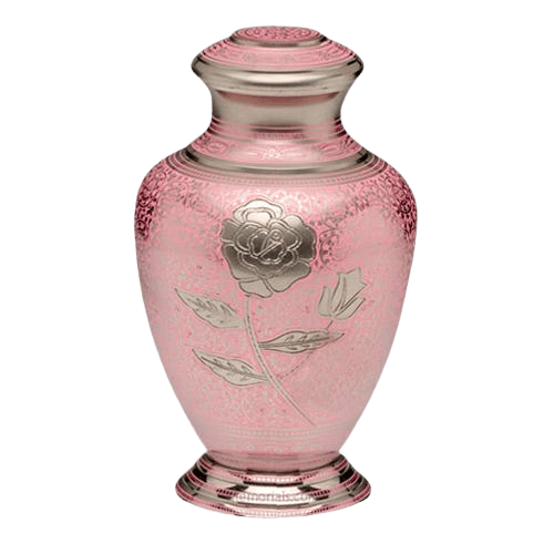 Red Rose Cremation Urn