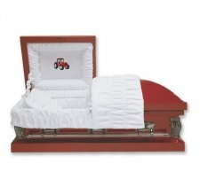 Red Tractor Large Child Casket