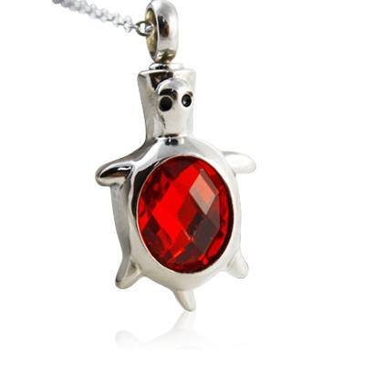 Red Turtle Cremation Jewelry