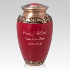 Red Vine Cremation Urn