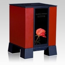 Red & Rose Medium Cremation Urn