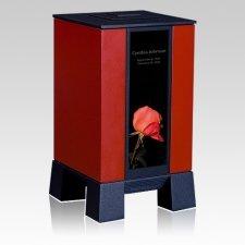 Red & Rose Cremation Urn