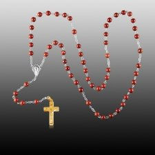 Redstone Gold Cremation Rosary