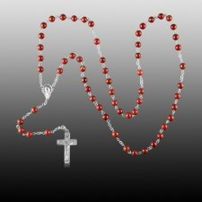 Redstone Silver Cremation Rosary