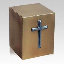 Reflection Cross Bronze Urn