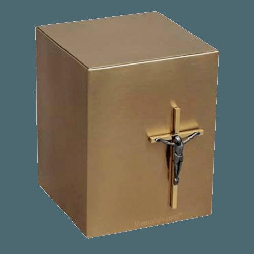 Reflection Crucifix Bronze Urn