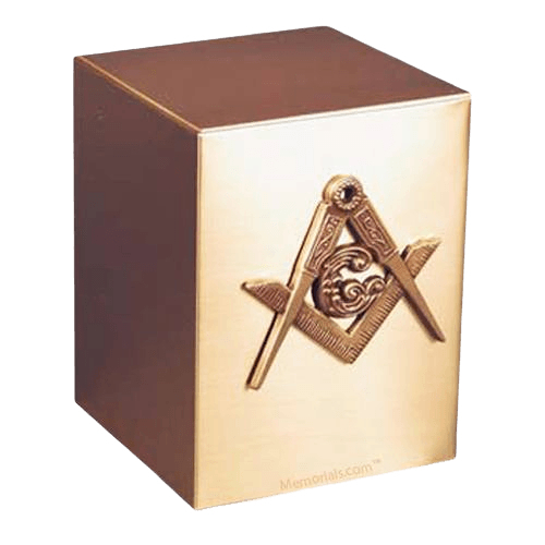 Reflection Masonic Bronze Urn