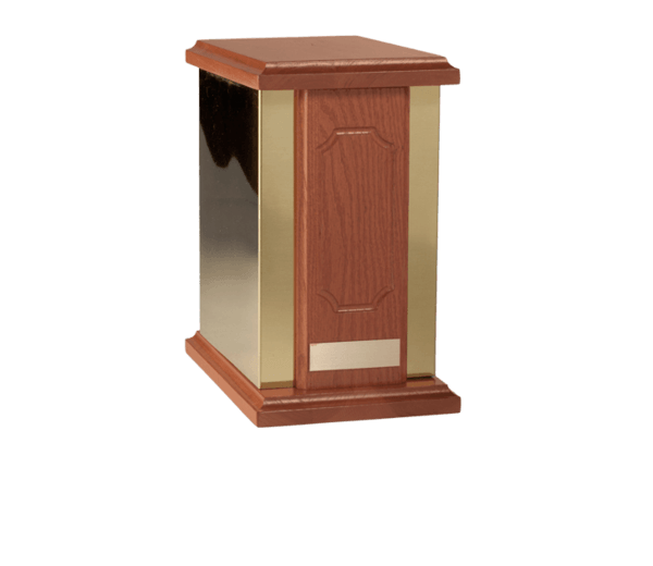 Golden Regal Wood Cremation Urn