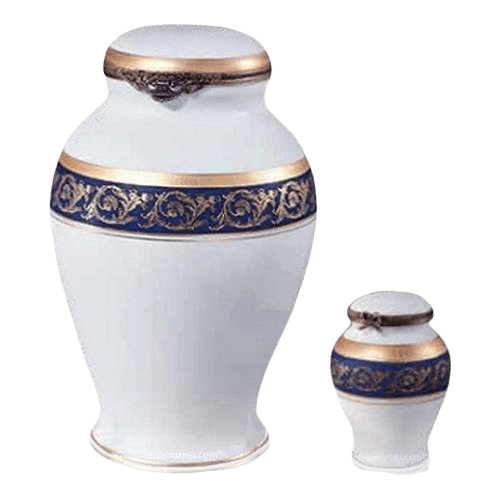 Regal Blue Porcelain Urns