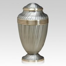 Regal Silver Metal Cremation Urn