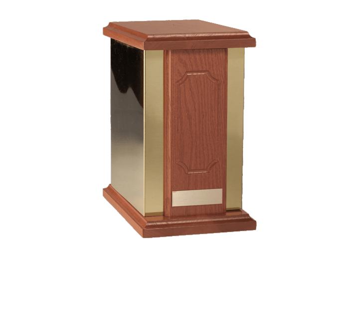 Golden Regal Wood Cremation Urn