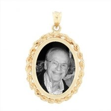 Regal Yellow Gold Photo Pendant