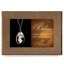 Rejoice Gift Boxed Angel Pendant