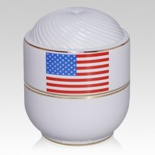 Remembrance Flag Cremation Urn