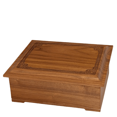 Renaissance Wood Cremation Urn III