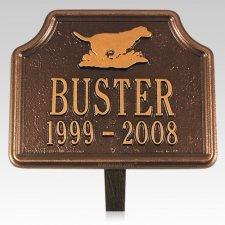 Retriever Pet Memorial Plaque