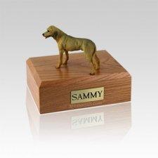 Rhodesian Ridgeback Standing Small Dog Urn