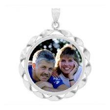 Ribbon Silver Photo Jewelry