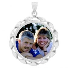 Ribbon Photo Pendants