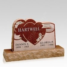 Ribbons Companion Granite Headstone
