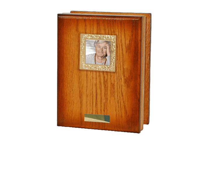 Rich Oak Book Cremation Urn