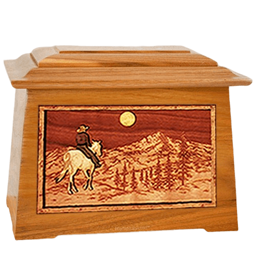 Riding Home Mahogany Aristocrat Cremation Urn