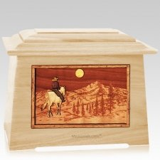 Riding Home Maple Aristocrat Cremation Urn