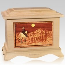 Riding Home Maple Cremation Urn