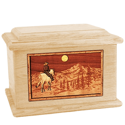 Riding Home Maple Memory Chest Cremation Urn