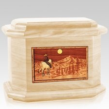 Riding Home Maple Octagon Cremation Urn