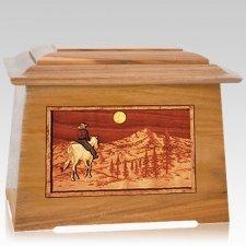 Riding Home Oak Aristocrat Cremation Urn