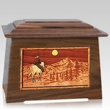 Riding Home Walnut Aristocrat Cremation Urn