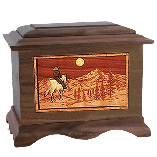 Riding Home Walnut Cremation Urn