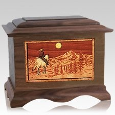 Riding Home Wood Cremation Urns