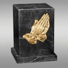 Rio Marble Praying Hands Cremation Urn