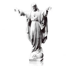 Rise Sacred Heart of Jesus Large Marble Statues
