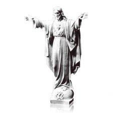 Rise Sacred Heart of Jesus Medium Marble Statues